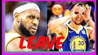 LEBRON JAMES IS LEAVING CLEVELAND AND MIGHT BE IN TROUBLE!! (Warriors are Coming)