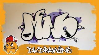 Graffiti Alphabet Tutorial - How to draw Graffiti Bubble Letters M to O