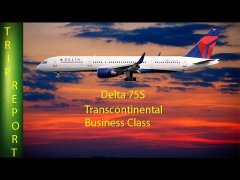 (New Interior) Delta 757 new Transcontinental Business Class