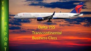 (New Interior) Delta 757 new Transcontinental Business Class