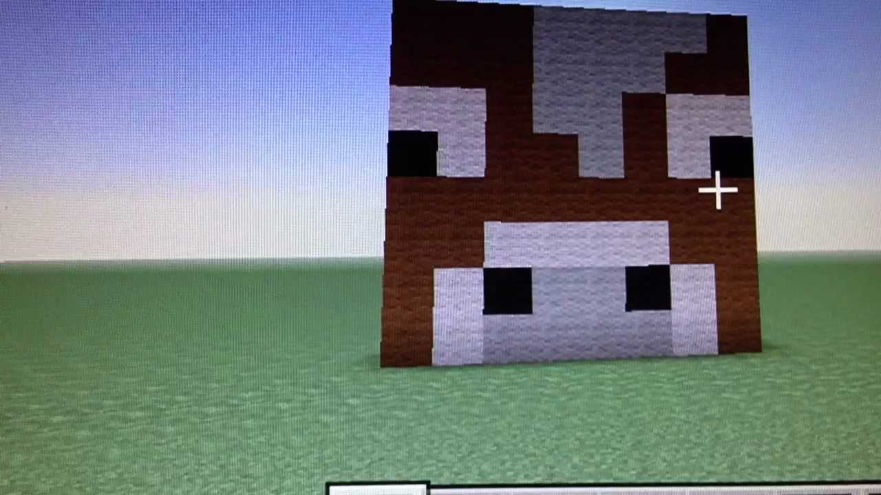 How to make a cow face on Minecraft