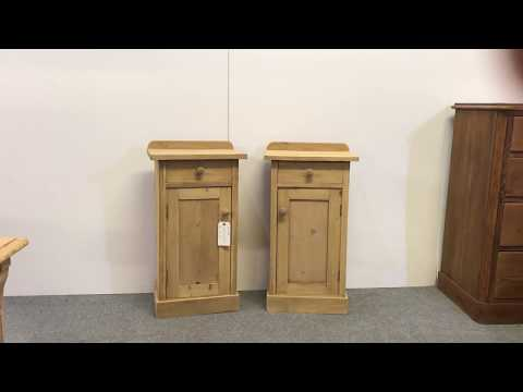Pair Of Antique Pine Bedside Pot Cupboards   Pinefinders Old Pine Furniture  Warehosue