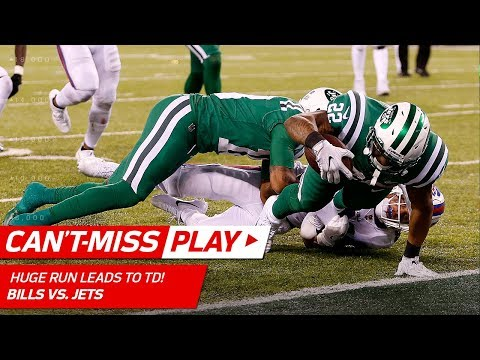 Bilal Powell's Powerful Run Leads to Matt Forte's Diving TD!   Can't-Miss Play   NFL Wk 9 Highlights