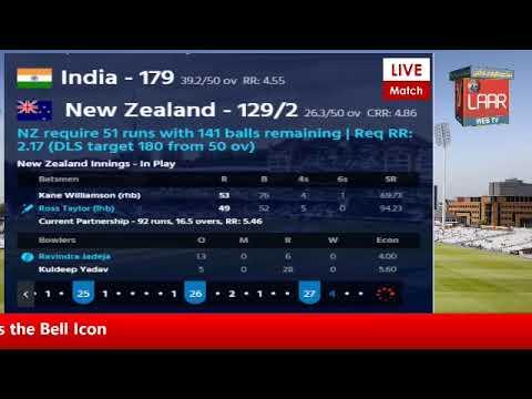 PTV Sports Laar TV Live Cricket Match Today IND vs NZ World Cap Match