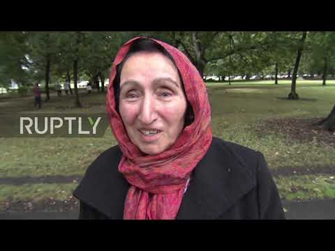 New Zealand: Wife of first named victim interviewed moments after Friday's mosque massacre