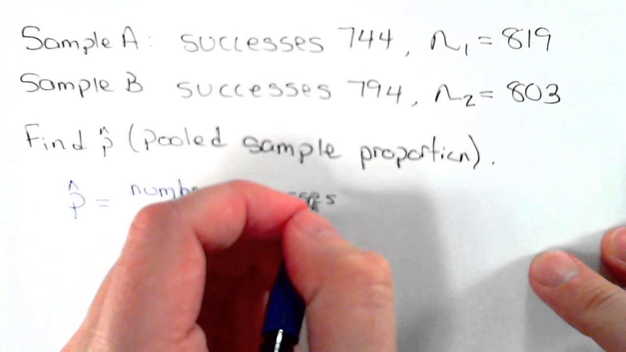 Pooled Sample Proportion 2 sample proportion - YouTube