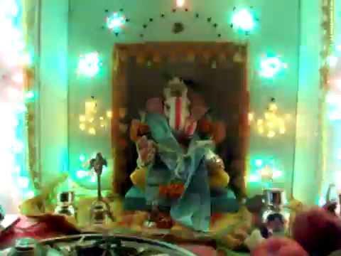 Ganapati Decoration At Home 2010 Youtube