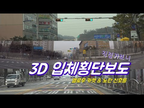 [경향신문] 안전위한 '착시' 3D 횡단보도 직접 가보니