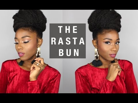Easy Natural Protective Hairstyle The Rasta Bun A