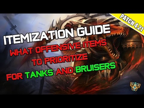 ✔ Itemization Guide - What Offensive Items to Prioritize for Tanks and Bruisers
