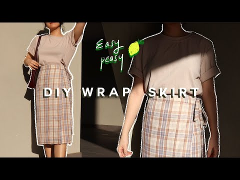 DIY / How To Make a Wrap Skirt (BEGINNER FRIENDLY) + PATTERN! - YouTube