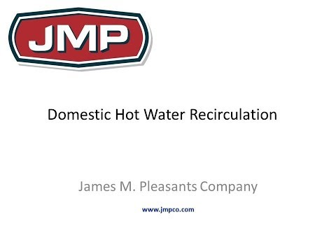 Domestic Hot Water Recirculation
