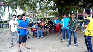 Boys singing at Selesa Beach Resort, PD