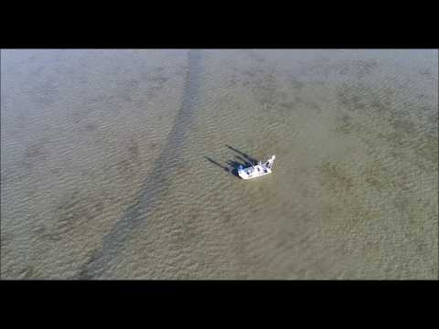 fishing at port mansfield with drone