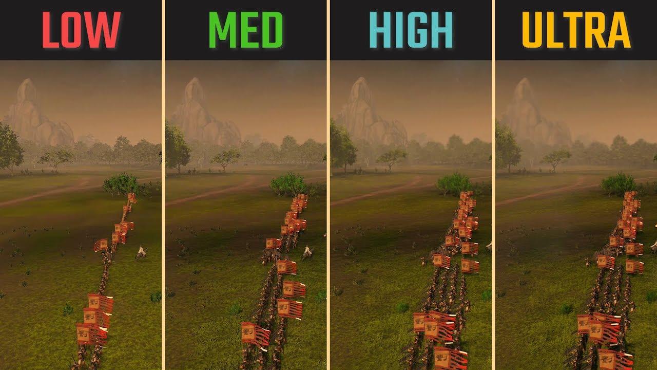 Total War: Three Kingdoms RTX 2060 Low vs  Medium vs  High vs  Ultra 1080p  1440p