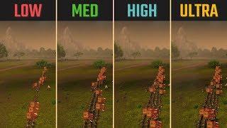 Total War: Three Kingdoms RTX 2060 Low vs. Medium vs. High vs. Ultra 1080p 1440p