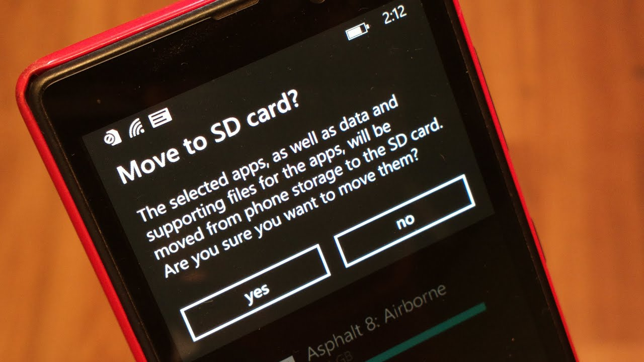 Windows Phone 8: No Apps on SD Card