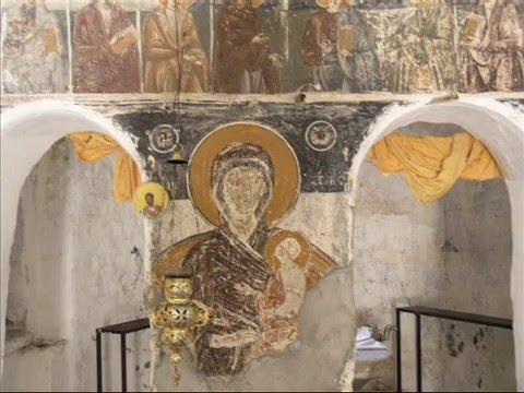 a deserted Greek Byzantine (c 1600 AD) orthodox monastery