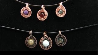 Mini Bead Pendant Wire Wrap Tutorial