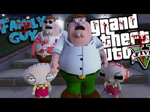 The EVIL Family Guy MOD W/ Stewie Griffin & Peter Griffin (GTA 5 PC Mods Gameplay)
