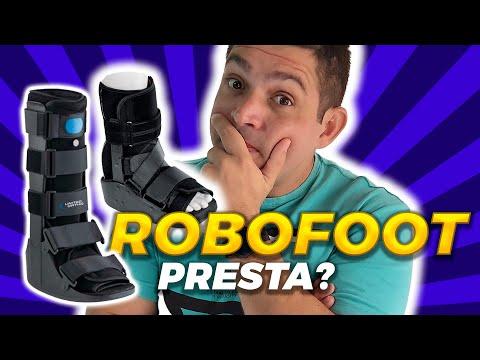 Usar  ROBOFOOT, bota ortopédica, ou gesso?