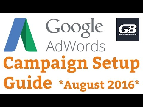 Google AdWords Campaign Setup Tutorial **August 2016 Updated**