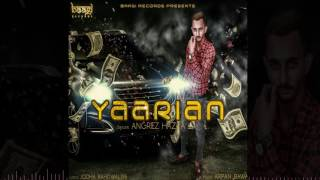 Yaarian -  Angrez Hazra | Latest Punjabi Songs 2016 | Baagi Records