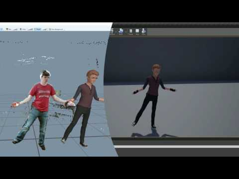 Kinect Motion Capture to Unreal Engine 4.14: First Test