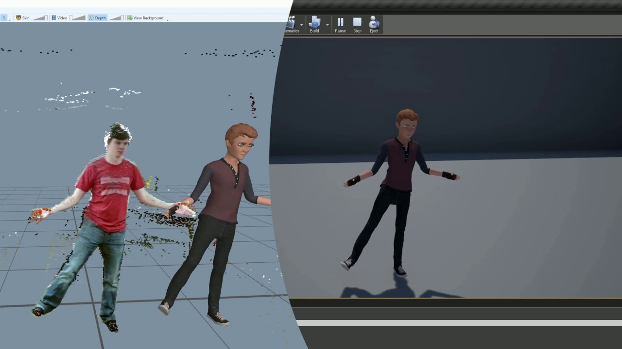 Kinect Motion Capture to Unreal Engine 4 14: First Test