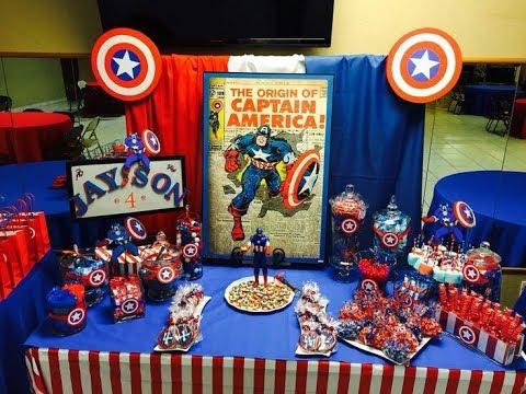 Fiesta de el capitan america 2017 party decoracion adornos - Mesa dulce infantil ...