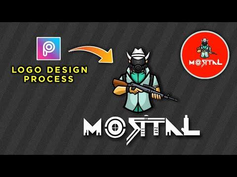 Mortal Logo Design Tutorial How To Make Logo Like Mortal In Picsart Sk Editz Youtube