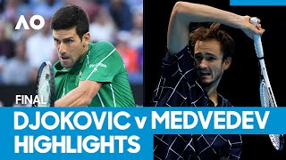 Novak Djokovic vs Daniil Medvedev Match Highlights (F) | Australian Open 2021