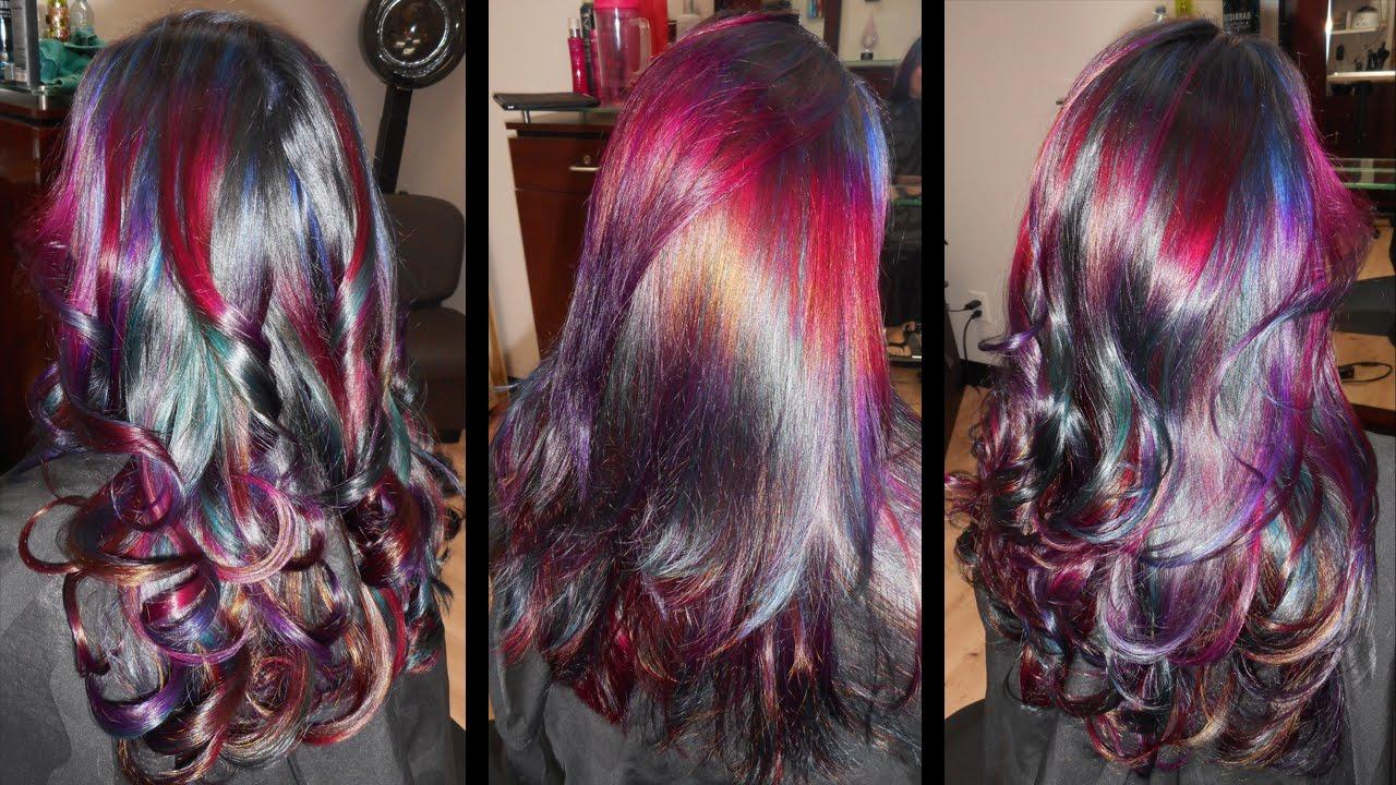 Intergalactic Oil Slick Hair YouTube