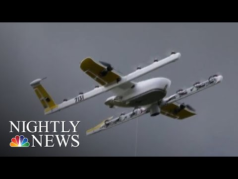 Google's Drone Delivery Service Is First To Get FAA Approval | NBC Nightly News