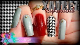 Nail Art Xadrez Sophsticated - Nill Art