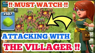 😈😈ATTACKING WITH VILLAGER 😱😱 !!CLASH OF CLANS PRIVATE SERVER   