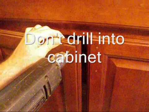 how to install kitchen cabinet handles and using a template for cabinet hardware 17054