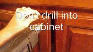 Making and Using a Template for Cabinet Hardware