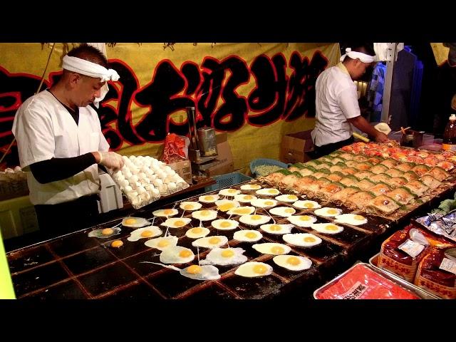 その場でファンが出来るお好み焼き屋さん 2017 職人芸 okonomiyaki Street Food Japan