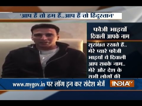 Watch Video : Actor Akshay Kumar Wishes Diwali To Soldiers