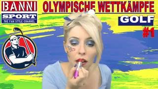GOLF #1 - Olympic Wettkampf - Original Banni Sport Fan Style & Make-up
