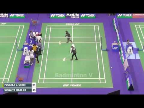 Susanto YULIA YOSEPHIN vs PUSARLA V Sindhu R badminton cup hongkong 2016