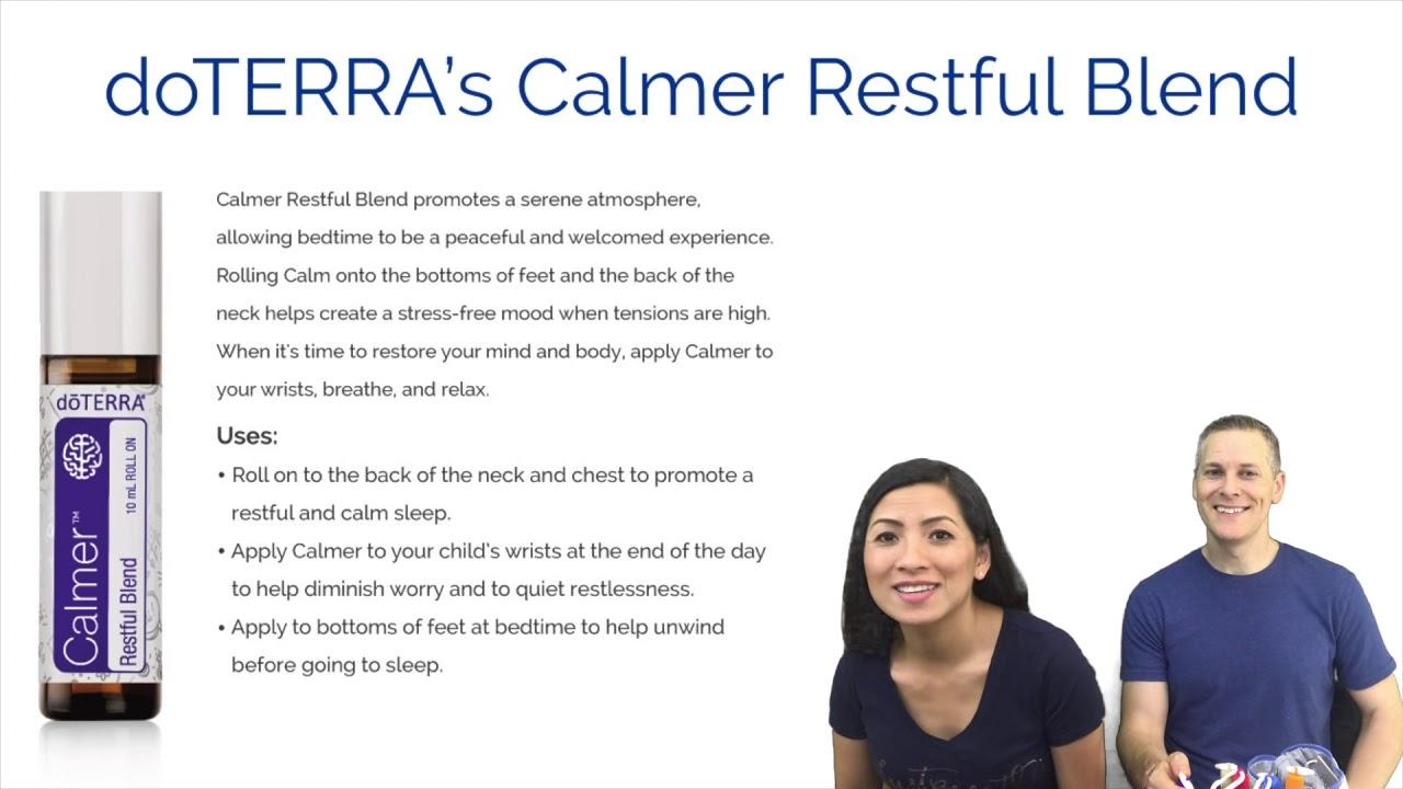 Doterra S New Calmer Restful Blend For Kids Youtube