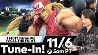 "Super Smash Bros. Ultimate - Mr. Sakurai Presents ""Terry Bogard"" 🔴 LIVE"