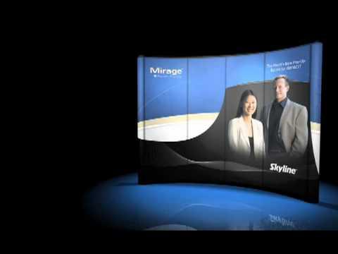 skyline-exhibits:-mirage-backlit-pop-up-trade-show-display