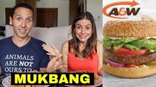 IS IT VEGAN? Beyond Meat A&W Canada Burger | MUKBANG