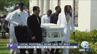 Local football star laid to rest