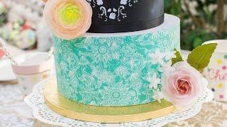 Cómo forrar una tarta con papel de azúcar - Tutorial - María Lunarillos | tienda & blog