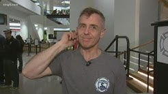Seattle firefighter stairclimb with Chicago Fire's David Eigenberg