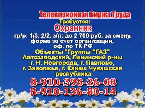 29 августа_14.50_Работа в Нижнем Новгороде_Телевизионная Биржа Труда